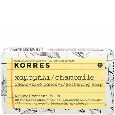 Мыло смягчающее для лица и тела ромашка Korres 125 гр: фото