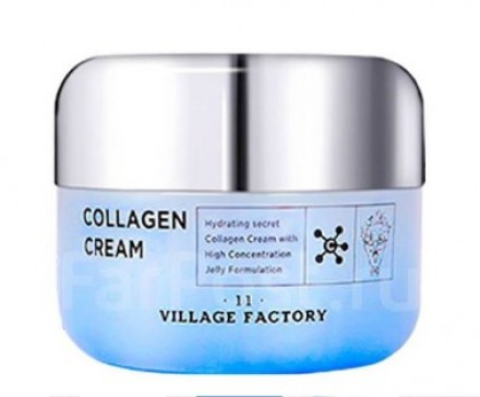 Крем для лица увлажняющий с коллагеном VILLAGE 11 FACTORY Collagen Cream 50мл: фото