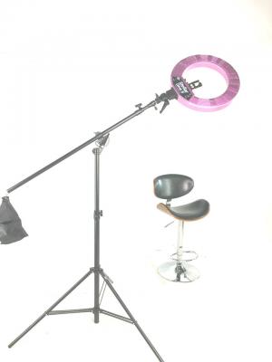 Кольцевая лампа Stellar LED Diva Ring light + Boom Stand Light pink: фото