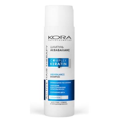 Шампунь аквабаланс KORA Phitocosmetics Active Hair Therapy Complex Keratin 250мл: фото