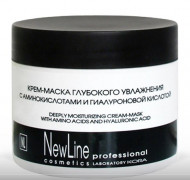 Крем-маска глубокого увлажнения с аминокислотами и гиалуроновой кислотой NEW LINE 300мл: фото