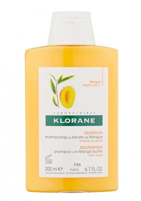 Шампунь с маслом Манго для сухих, поврежденных волос Klorane Nutrition and Hydration with mango butter 200 мл: фото