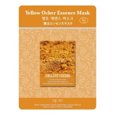 Маска тканевая охра Mijin Yellow Ocher Essence Mask 23гр: фото