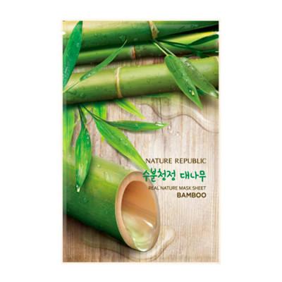 Маска для лица листовая NATURE REPUBLIC REAL NATURE BAMBOO MASK SHEET 20мл: фото