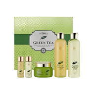Набор для лица уходовый PREMIUM DEOPROCE GREENTEA TOTAL SOLUTION 3 SET 260мл*2/ 100мл / 30мл*2: фото