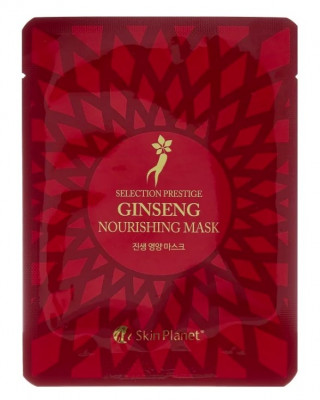 Маска для лица тканевая женьшень Mijin Skin Planet Selection prestige ginseng nourishing mask 25г: фото