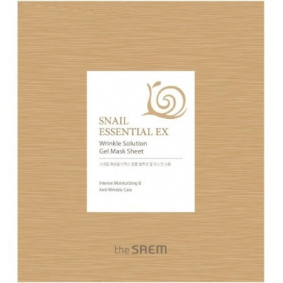 Маска для лица антивозрастная THE SAEM Snail Essential EX Wrinkle Solution Gel Mask Sheet 28г: фото