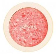 Румяна компактные THE SAEM Eco Soul Carnival blush 02 Coral 9,5г: фото