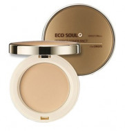 Пудра компактная THE SAEM Eco Soul Perfect Cover Pact 21 Light Beige 11г: фото