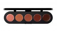 Палетка блесков и помад, 5 цветов Make-Up Atelier Paris №01 бежево-розовая гамма, 10г: фото