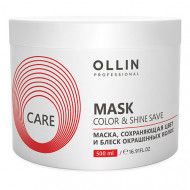 Маска для сохранения цвета и блеска окрашенных волос OLLIN CARE Color&Shine Save Mask 500мл: фото