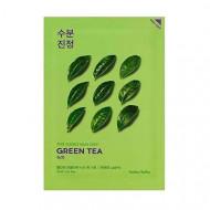 Маска тканевая противовоспалительная Holika Holika PURE ESSENCE зеленый чай 20 мл: фото