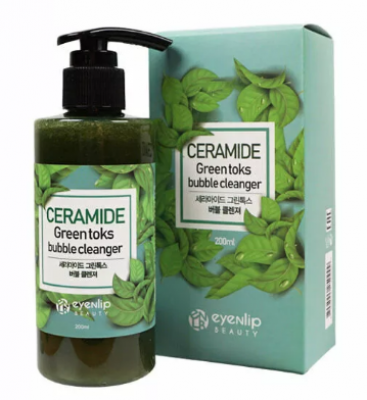 Пенка для умывания Eyenlip CERAMIDE GREEN TOKS BUBBLE CLEANSER 200мл: фото