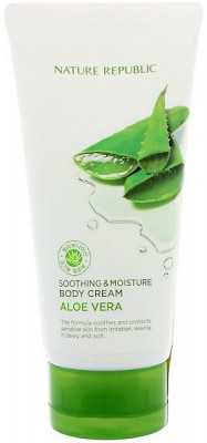 Крем для тела увлажняющий с алоэ NATURE REPUBLIC Soothing&Moisture Aloe Vera Body Cream 150мл: фото