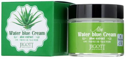 Крем увлажняющий с экстрактом алоэ JIGOTT Aloe Water Blue Cream: фото