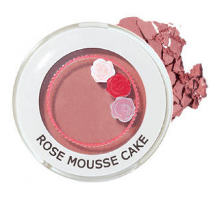 Тени для век матовые THE SAEM Saemmul Single Shadow Matte PK10 Rose mousse cake 2г: фото