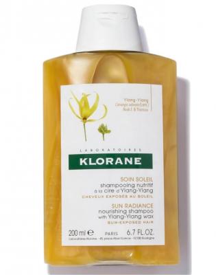 Шампунь совершенствующий с воском Иланг-иланг Klorane Sun Radiance Nourishing with Ylang-Ylang Wax 200 мл: фото