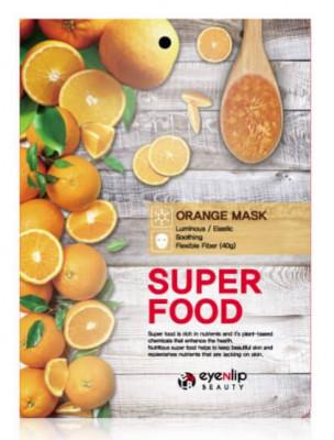 Маска для лица тканевая с апельсином EYENLIP SUPER FOOD ORANGE MASK 23мл: фото