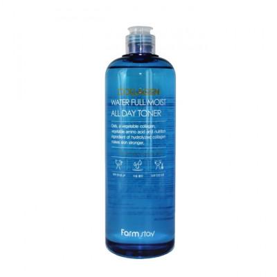Тонер увлажняющий с коллагеном FARMSTAY Collagen water full moist toner 500мл: фото