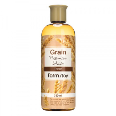 Тонер выравнивающий с экстрактом ростков пшеницы FarmStay GRAIN PREMIUM WHITE TONER 350мл: фото