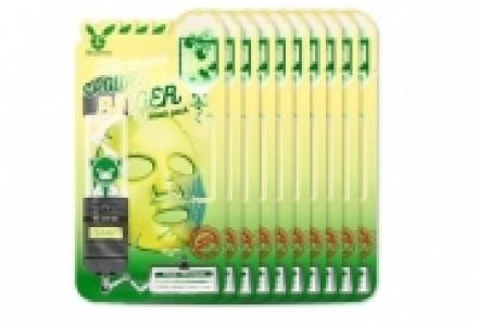 НАБОР Тканевых масок Центелла Elizavecca CENTELLA ASIATICA DEEP POWER Ringer mask pack 23мл*10шт: фото