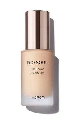 Тональный крем-сыворотка The Saem Eco Soul Real Serum Foundation SPF50+ PA++++ 23 Natural Beige 35мл: фото
