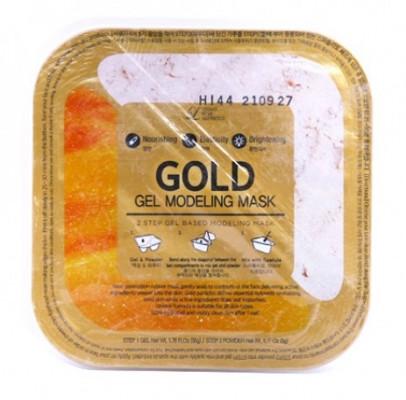 Альгинатная гелевая маска с коллоидным золотом (пудра+гель) Lindsay Gold Gel Modeling Mask 50г+5г: фото
